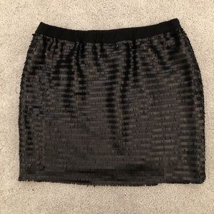 Urban Outfitters Black Sequin Mini Skirt Size S